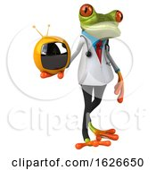 03/24/2019 - 3d Green Doctor Frog On A White Background