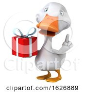 3d White Duck, on a White Background by Julos #COLLC1626889-0108