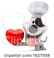 Poster, Art Print Of 3d Chef Jack Russell Terrier Dog On A White Background