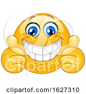 Poster, Art Print Of Yellow Emoji Giving Two Thumbs Up And Grinning