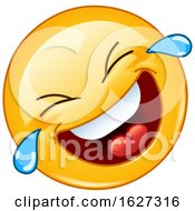 Poster, Art Print Of Yellow Emoji Laughing And Crying