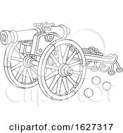 Poster, Art Print Of Black And White Cannon