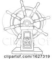 Black And White Ship Helm Steering Wheel