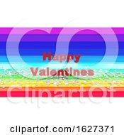 Poster, Art Print Of 3d Render Of Hearts On Rainbow Background