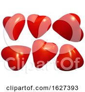 Poster, Art Print Of 3d Red Hearts