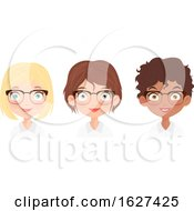 Poster, Art Print Of Team Of Business Women With Glasses