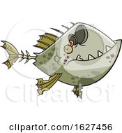 Cartoon Zombie Fish by toonaday