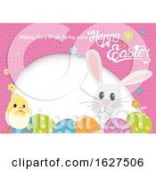 Easter Egg Chick And Bunny Frame With A Greeting
