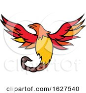 Phoenix Bird With Scorpion Tail Mascot