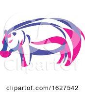 Ribbon Style Hippopotamus