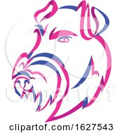 Curly Ribbon Style Manchester Terrier Dog Mascot