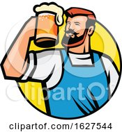 Bearded Hipster Toasting A Mug Of Beer