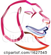 Curly Ribbon Style Beagle Dog Mascot Head