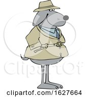 Cartoon Dog Investigator by djart