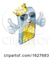 Sim Card King Cool Mobile Phone Cartoon Mascot