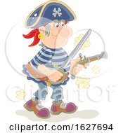 Pirate Holding A Sword And Pistol