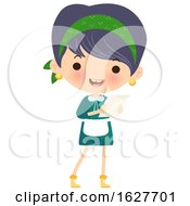 Poster, Art Print Of Happy Cleaning Lady Holding A To Do List