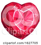 Valentines Day Ruby Heart