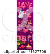Poster, Art Print Of Valentines Day Vertical Website Banner