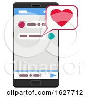 Valentines Day Love Message On A Smart Phone