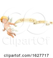 Poster, Art Print Of Valentines Day Banner And Cupid