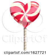 Poster, Art Print Of Valentines Day Heart Shaped Lollipop