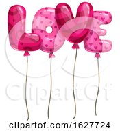 Poster, Art Print Of Valentines Day Love Letter Balloons