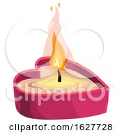 Poster, Art Print Of Valentines Day Heart Candle