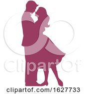Valentines Day Silhouetted Couple