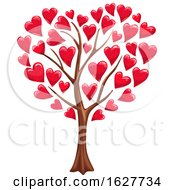 Poster, Art Print Of Valentines Day Tree With Hearts