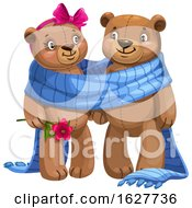 Poster, Art Print Of Valentines Day Teddy Bear Couple