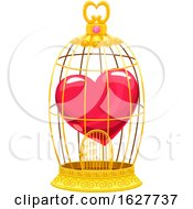 Valentines Day Heart In A Bird Cage