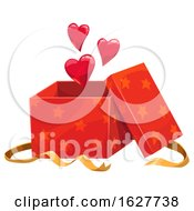 Poster, Art Print Of Valentines Day Gift Box With Hearts