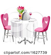 Poster, Art Print Of Valentines Day Table Setting
