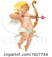 Poster, Art Print Of Valentines Day Cupid Aiming An Arrow