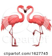 Poster, Art Print Of Valentines Day Flamingo Couple
