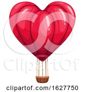 Poster, Art Print Of Valentines Day Heart Hot Air Balloon