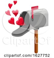 Poster, Art Print Of Valentines Day Mailbox With Hearts