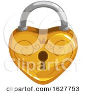 Valentines Day Heart Shaped Padlock