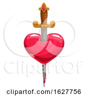 Poster, Art Print Of Valentines Day Sword Through A Heart