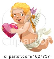 Poster, Art Print Of Valentines Day Cupid Holding A Heart