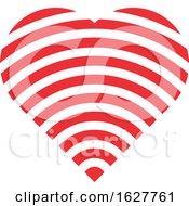 Poster, Art Print Of Red Valentine Heart With A Wifi Signal