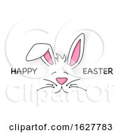 Happy Easter And Bunny Face