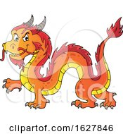 Red Orange And Yellow Chinese Dragon by visekart