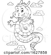 Black And White Chinese Dragon