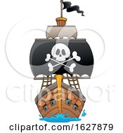 Pirate Ship With A Big Jolly Roger