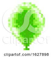 Pixel Art 8 Bit Arcade Video Game Balloon Icon