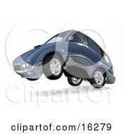 Clipart Graphic Of A Powerful Or Quiet Car Up On Its Hind Wheels