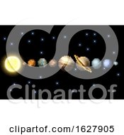 Poster, Art Print Of Solar System 8 Bit Arcade Video Game Pixel Art