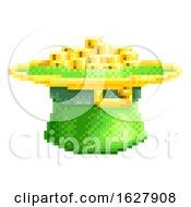 St Patricks Day Leprechaun Hat Pixel Art Icon by AtStockIllustration